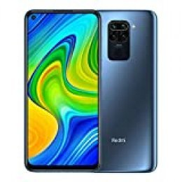 "Xiaomi Redmi Note 9 - Smartphone RAM 4GB ROM 128GB 6.53"" FHD + DotDisplay 48MP Quad Camera Hotshot 3.5mm Headphone Jack 5020 mAh NFC Gris"