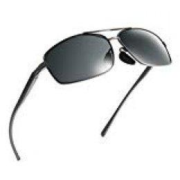 NWOUIIAY Gafas de Sol Unisex para Mujeres Hombres Chicas Chicos Jóvenes y Ancianos con Lentes TAC Polarizadas Anteojos de Sol Deportivos de Marco de Aluminio de Aleación de Magnesio
