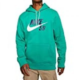 Nike M Nk SB Icon Hoodie Po Essnl Sweatshirt, Hombre, Neptune Green/(White), L