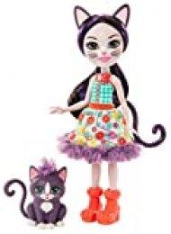 Enchantimals Muñeca Ciesta Cat con Mascota Climber (Matterl Gjx40)