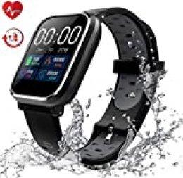 Pulsera de Actividad Inteligente, IP67 Impermeable Reloj Inteligente Pulsera Actividad Inteligente para Deporte, Reloj de Fitness con Podómetro Smartwatch-S-HS1
