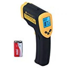 Etekcity Lasergrip 1080 Termómetro Infrarrojo Láser, -50 ℃ a 550℃, Medidor IR Digital sin Contacto, Pistola de Temperatura, LCD Iluminación, Amarrillo/Negro