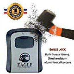 EAGLE LOCK® Caja de Seguridad Para llaves |  N°1 Per AIRBNB |【10 ANNI DI GARANZIA】Para exteriores / Interiores - (Grande)