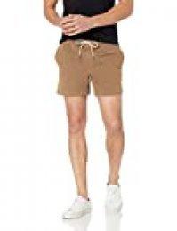 Marca Amazon - Goodthreads: pantalones cortos de lona elásticos para hombre con tiro de 13 cm., Caqui, US XS (EU XS)