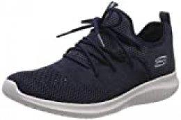 Skechers Ultra Flex-windsong, Zapatillas para Mujer, Azul (Navy Nvy), 38 EU