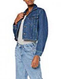 Lee Cropped Rider Jacket Chaqueta Vaquera, Azul (Tic Ez), Large para Mujer