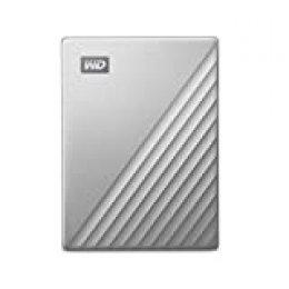 WD My Passport Ultra Disco Duro Externo para Mac de 5 TB, Preparado para USB-C, Plata