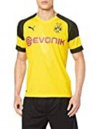 PUMA 1a Equipación 19/20 Borussia Dortmund Original con Evonik/Opel Logo Camisetas, Hombre, Amarillo (Cyber Yellow), XL