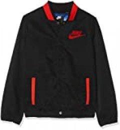 NIKE B NSW HOOPFLY Jacket Chaqueta, Niños, Black/Habanero Red/Habanero re, M