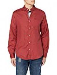 Springfield Solid Ligth Twill Camiseta Deporte, Rojo (Red 68), X-Small (Tamaño del Fabricante: XS) para Hombre