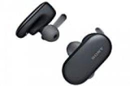 Sony WF-SP900B - Auriculares Deportivos Totalmente inalámbricos (Bluetooth, 4GB, Resistente al Agua y Polvo IP65/IP68, Sensor táctil, 12h de autonomía con Bluetooth y 21 Interna) Negro
