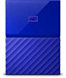 WD My Passport - Disco Duro Portátil de 3 TB y Software de Copia de Seguridad Automática, Azul