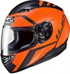 HJC CS 15 FAREN MC7SF - Casco de moto (talla S), color naranja y negro