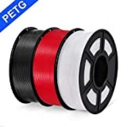 PETG 3D filament SUNLU 1.75mm 1KG(2.2lb), PETG 3D Printer Filament, Dimensional Accuracy +/- 0.02 mm, 1 kg Spool, 1.75 mm