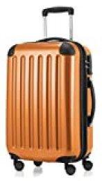 HAUPTSTADTKOFFER - Alex - Equipaje de mano cabina, Trolley rigido, TSA, 55 cm, 42 litros, Orange