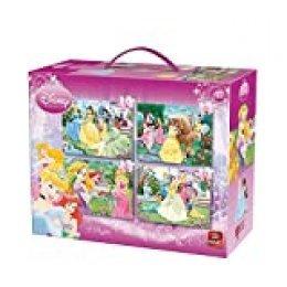 King 5136 - Puzzle 4 en 1, diseño de Princesas Disney