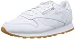 Reebok Classic Leather Zapatillas, Mujer, Blanco (Int-White / Gum), 40.5 EU