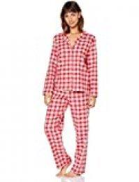 Marca Amazon - IRIS & LILLY Pijama de Modal Mujer, Rojo (Red&White), XS, Label: XS