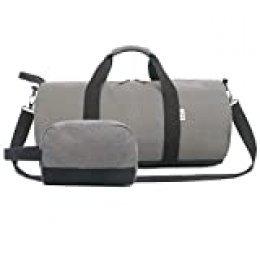 Oflamn Pequeña Bolsa de Viaje Bolsa Fin de Semana - Bolsa de Deporte para Mujeres y Hombres - Travel Duffel Bag & Sports Gym Bag (1.0 Gris)