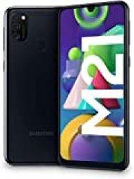 """Samsung Galaxy M21 - Smartphone Dual SIM de 6.4"""" sAMOLED FHD+, Triple Cámara 48 MP, 4 GB RAM, 64 GB ROM Ampliables, Batería 6000 mAh, Android, Versión Española, Color Negro"""
