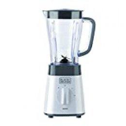 Black+Decker BXJB500E Batidora de vaso, 500 W, 1.5 litros, Plástico, Blanco y gris