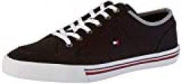 Tommy Hilfiger Core Corporate Textile Sneaker, Zapatillas para Hombre, Negro (Black Bds), 40 EU