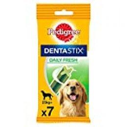 Pack de 7 Dentastix Fresh de uso diario para la limpieza dental de los perros y contra mal aliento, para perros grandes (Pack de 10)
