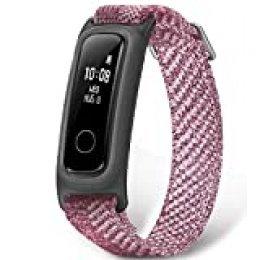 HONOR Band 5 Sport smartwatch,Pulsera de Actividad Inteligente Reloj Impermeable IP68, Monitor de Sueño, Podómetro Fitness Tracker Rosa (Versión Global)