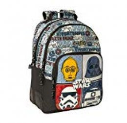 Star Wars Mochila Doble con cantoneras Adaptable a Carro