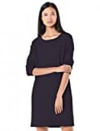 Goodthreads Modal Fleece Popover Sweatshirt Dress, Marino, US M (EU M - L)