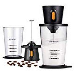 SIMPLETASTE Espumador de Leche Eléctrico con Recipiente, espumador con batería inalámbrica para Nespresso Cappuccino y café, 2 pilas AA (no incluidas)
