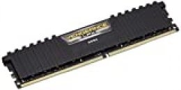 Corsair Vengeance LPX - Módulo de Memoria XMP 2.0 de Alto Rendimiento de 16 GB (1 x 16 GB, DDR4, 3000 MHz, C16), Color Negro