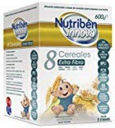 Nutribén Papillas Innova 8 Cereales Extrafibra Desde Los 5 Meses, 600 G, Pack de 1
