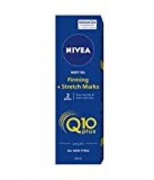 NIVEA Q10 Plus Aceite Corporal Reafirmante + Antiestrías, aceite hidratante con coenzima Q10, piel más firme y previene estrías en el embarazo - 1 x 200 ml