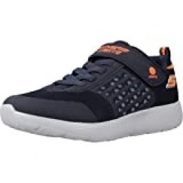 Skechers Dyna-Lights, Zapatillas para Niños, Azul (Navy Mesh/Orange Trim Nvor), 32 EU