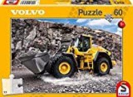 Schmidt Spiele- Volvo L150H-Puzzle (60 Piezas), Color Amarillo (SCH56284)