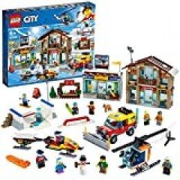 LEGO City Town - Estación de Esquí, Set de construcción, Incluye helicóptero y camión quitanieves de juguete además de 2 edificios (60203) , color/modelo surtido