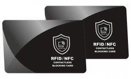 Protector de Tarjetas RFID contactless, NFC Bloqueo - Blocker Card - Tarjeta de Bloqueo de escáner y lectores para billeteras y Pinzas para Billetes - 2 Piezas - Regalos Originales Navidad