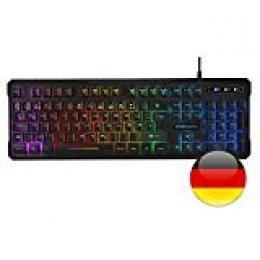 Mars Gaming MK218, teclado H-Mechanical Red, RGB 9 efectos, layout ALEMAN ya que la edicion manual no tiene efecto