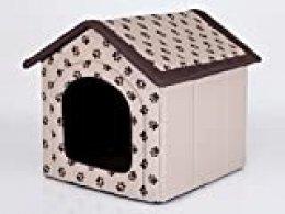 Hobbydog R2 BUDBEZ13 - Caseta para Perros, tamaño 2, 44 x 38 cm, Material de codura Resistente, Resistencia contra arañazos, Producto Europeo, S, Beige, 700 g