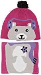 Columbia Youth Snow More Set De Sombrero Y Braga para El Cuello, Unisex niños, Pink Ice Bear, O/S