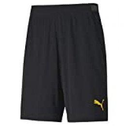 PUMA Ftblnxt Entr Pantalones Cortos de Entrenamiento, Hombre, Negro Black-Ultra Yellow, M