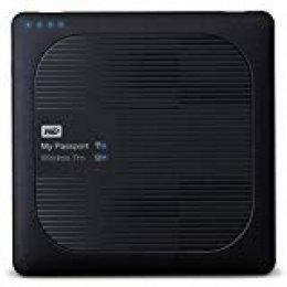 WD My Passport Wireless Pro - Disco Duro Externo portátil de 2 TB (con Wi-Fi AC, SD y USB 3.0)