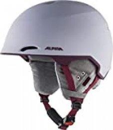 ALPINA Maroi Casco de esquí y Snowboard, Unisex Adulto, Morado y Gris Mate, 53-57 cm