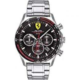Scuderia Ferrari Reloj para de Cuarzo con Correa en Acero Inoxidable 830714