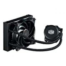 Cooler Master - MasterLiquid Lite 120 - Enfriador líquido para CPU Todo en uno con Bomba de cámara Doble, Intel/AMD con Soporte AM4 1 ML Lite 120 120 mm