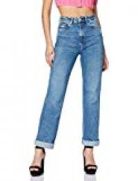 Pepe Jeans Frenzy Vaqueros Straight, Azul (000denim 000), W34/L30 (Talla del Fabricante: 24) para Mujer