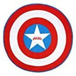 Cerdá 2200003996 Toalla Redonda Avengers Capitan America Rojo 130x130cm