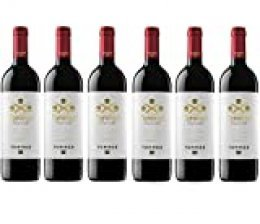 Coronas Crianza, Vino Tinto - 6 botellas de 75 cl, Total: 4500 ml