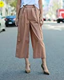 The Drop Pantalón culotte suelto de talle alto en color caramelo para mujer por @paolaalberdi, L